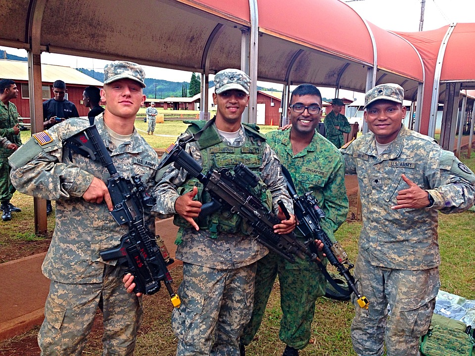 Army, Soldiers, Military, Singapore, Alliance, National