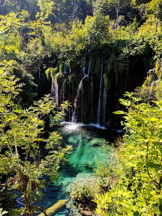 Croatia, Waterfall, National Park, Nature