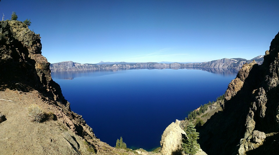 Crater Lake, Oregon, National Park, Blue, Nature, Water