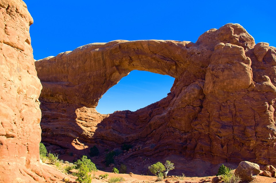South Window Arch, Sandstone, Arches, National, Park