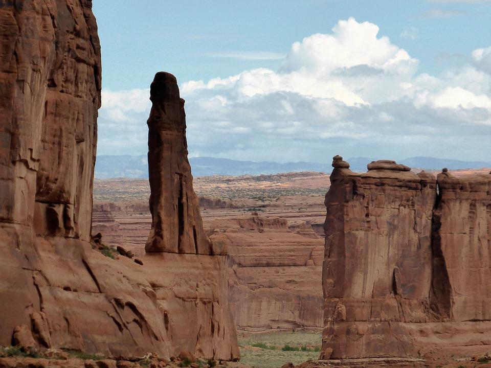 Rock, Stone, National Park, America, Dry, Landscape