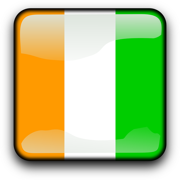 Côte D'ivoire, Flag, Country, Nationality, Square