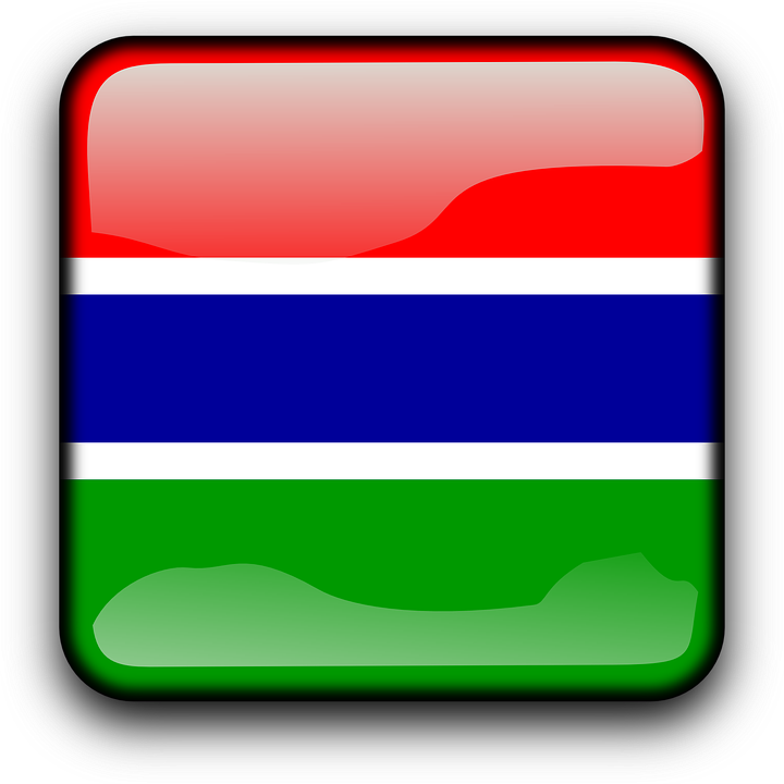 Gambia, Flag, Country, Nationality, Square, Button