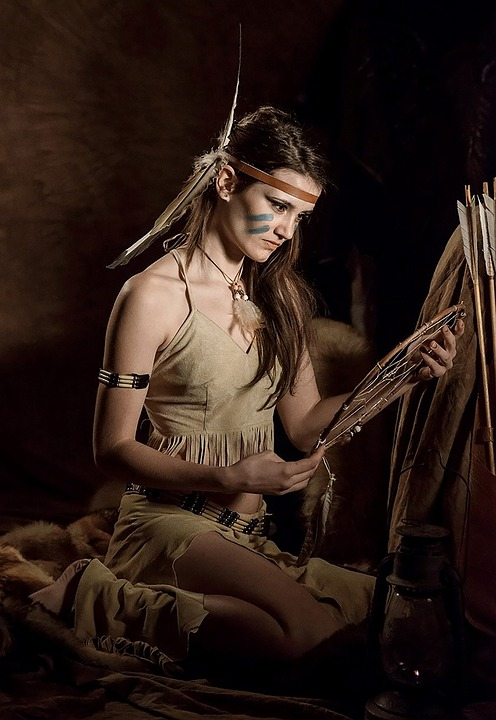 Squaw, American Indian, Native American, Girl, Woman