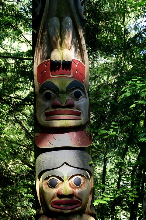 Totem, Native Art, Totem Pole, Wooden, Artwork, Mystic