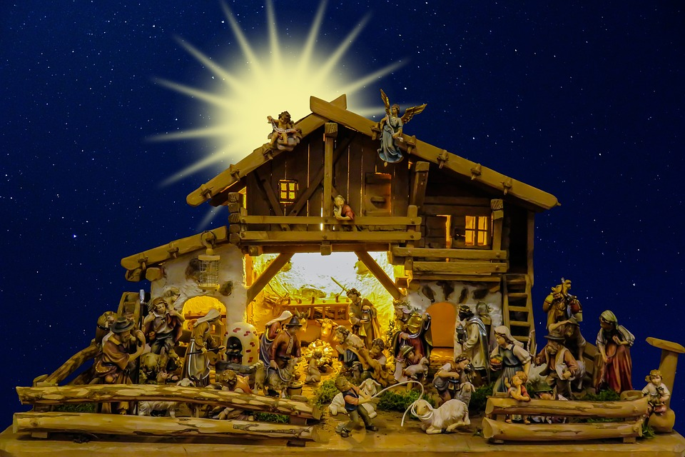 Free photo Nativity Scene Christmas Crib Father Christmas  Max Pixel