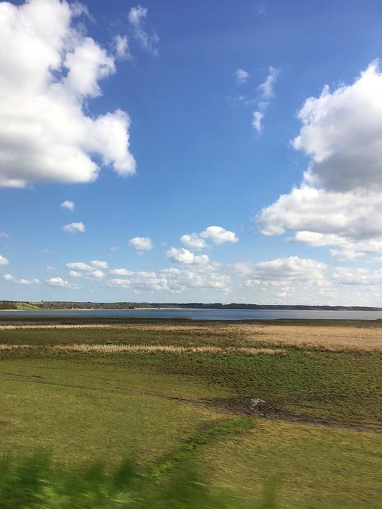 Sunny, Sol, Denmark, Nordjylland, Natural, Sky, Water