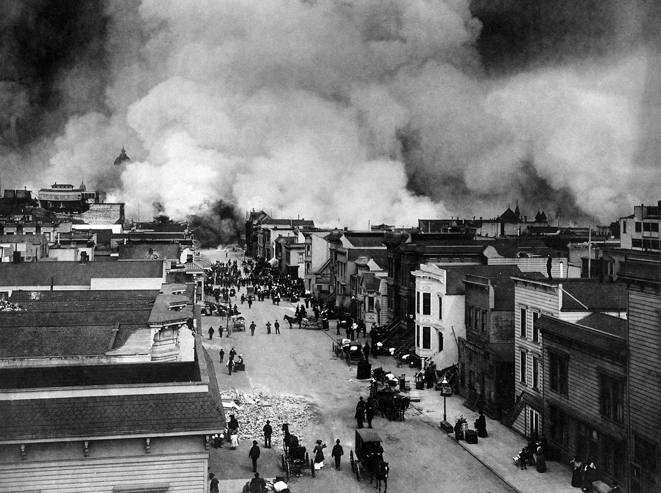Earthquake, Natural Disaster, San Francisco, 1906, Fire