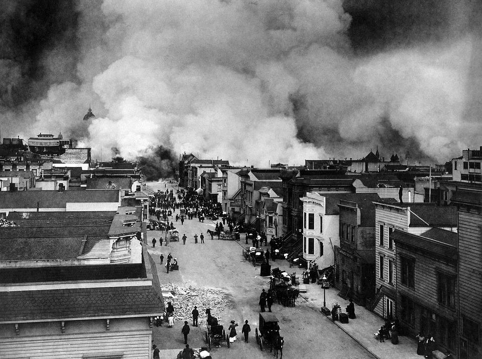 Earthquake, Natural Disaster, San Francisco, 1906, Fire