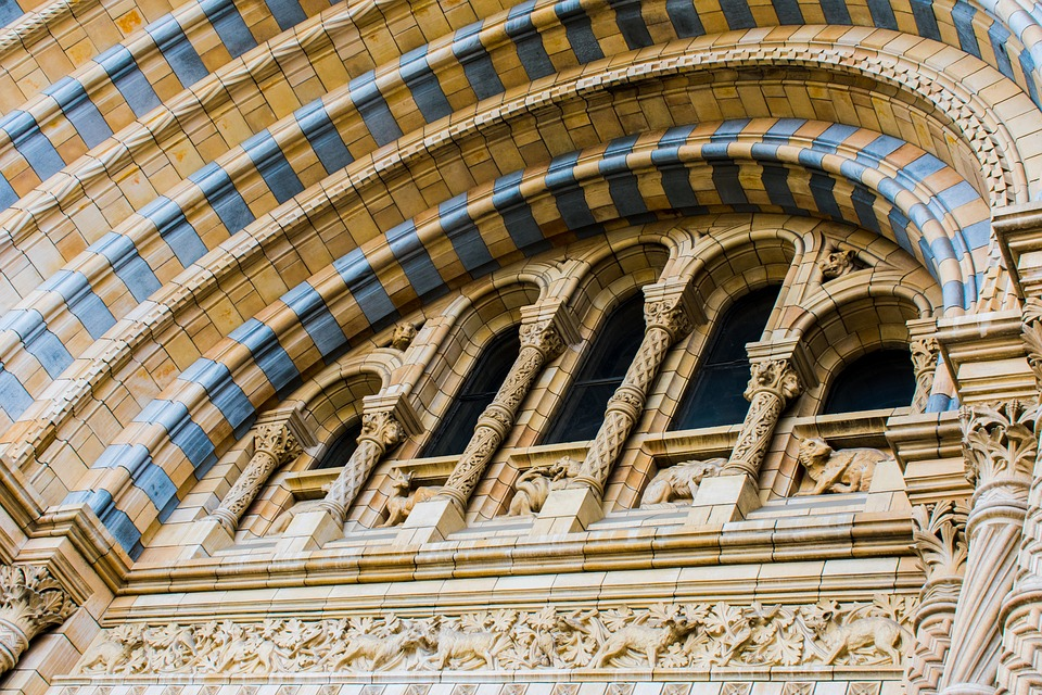 Architecture, London, Natural History Museum, Arches