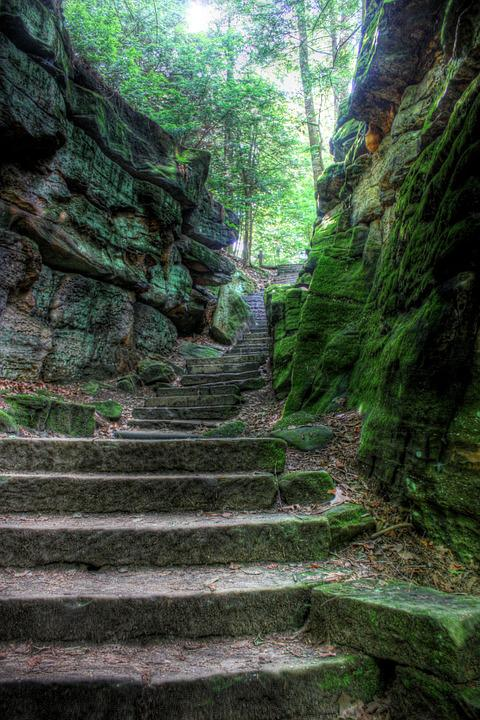 Stairs, Nature, Stairway, Natural, Stone, Landscape