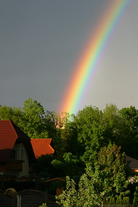 Rainbow, Natural Phenomenon, Weather, Refraction