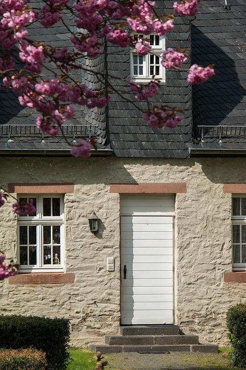 Door, Facade, Input, Front Door, Natural Stone, Slate