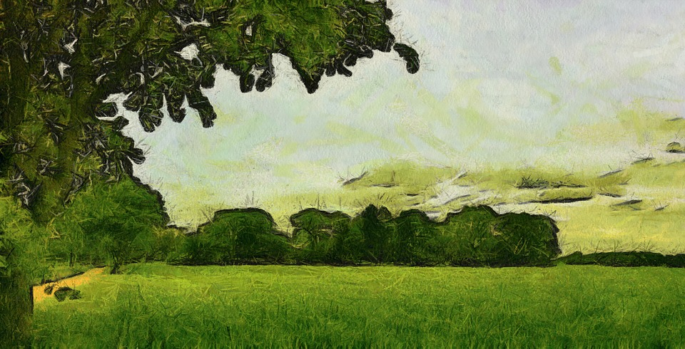 Drawing, Nature, Green, Artwork, Abstract, Painting