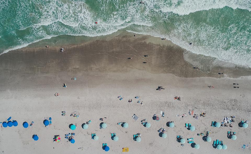 Nature, Landscape, Aerial, Water, Ocean, Sea, Beach