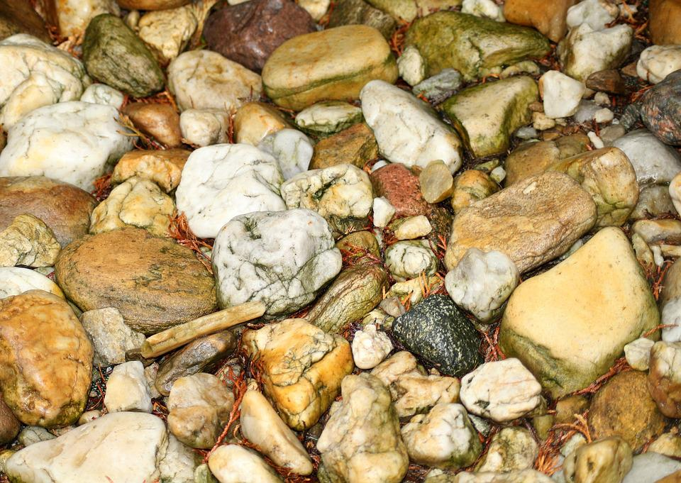 The Stones, Wet, After The Rain, Nature, Pebble