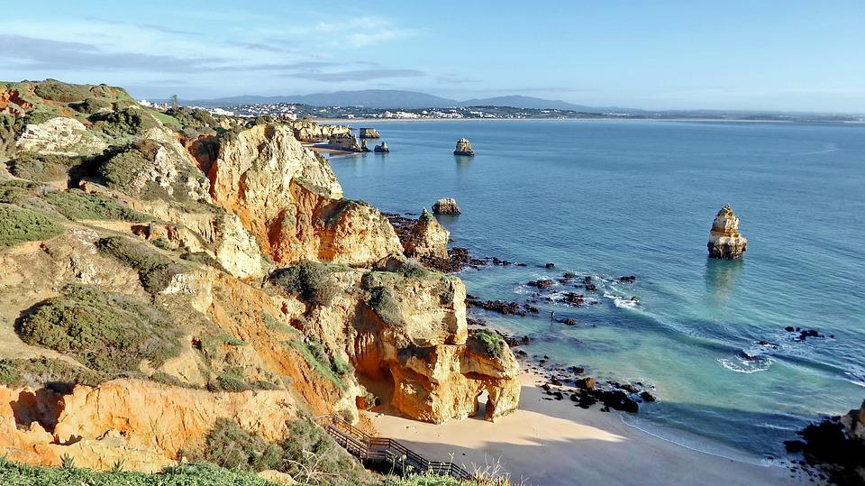 Portugal, Algarve, Sea, Coast, Nature, Rock, Beach