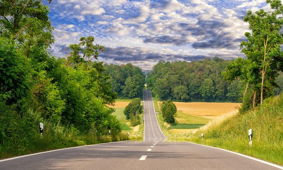 Road, Away, Asphalt, Landscape, Nature, Sky