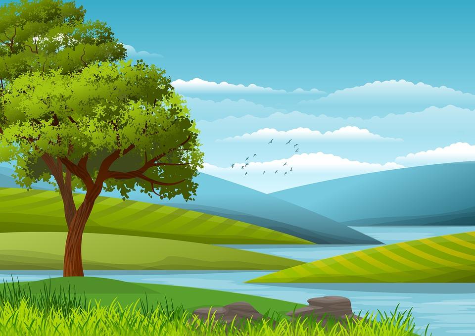 Illustration, Background, Wallpaper, Landscape, Nature