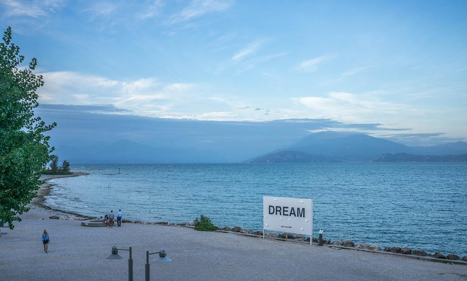 Lake Garda, Beach, Mountains, Nature, Europe, Vacation