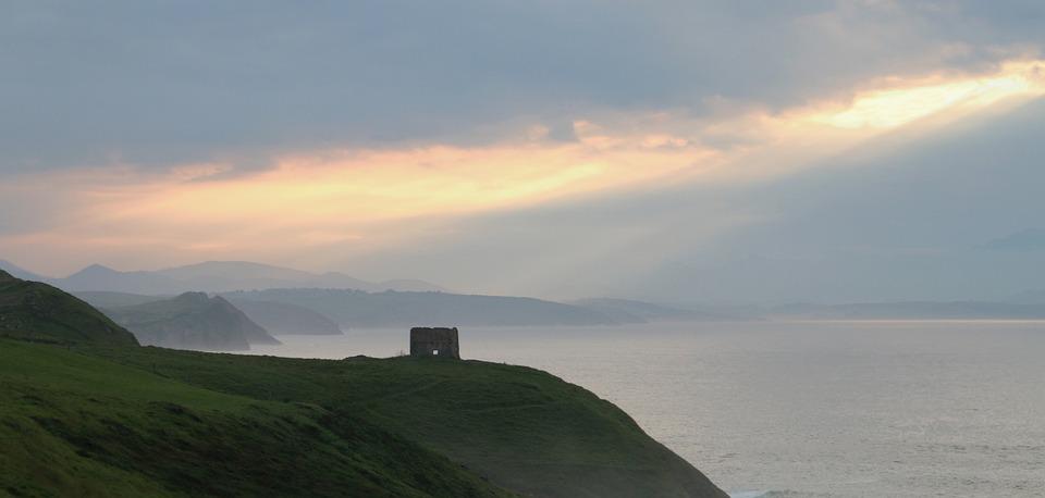 Sea, Fog, Ocean, Nature, Blue, Calm, Mountains, Beach