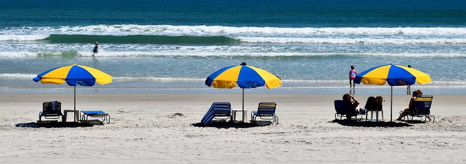 People, Beach, Beach Umbrella, Outdoors, Nature