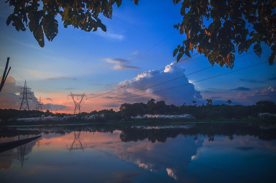 Sky, Beautiful, River, Nature, Summer, Blue, Color