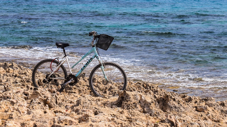 Bicycle, Rocky Coast, Sea, Nature, Adventure, Leisure