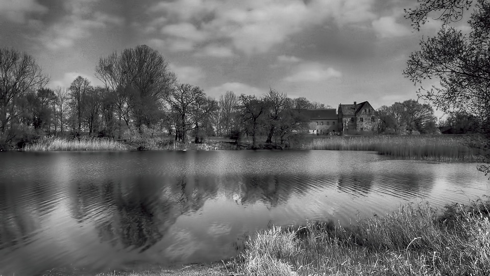 Waters, Black And White Photography, Nature, Reflection