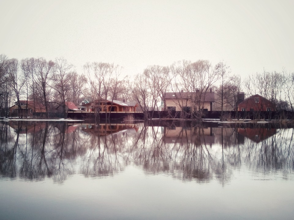 Water, River, Reflection, Bridge, Dawn, Nature