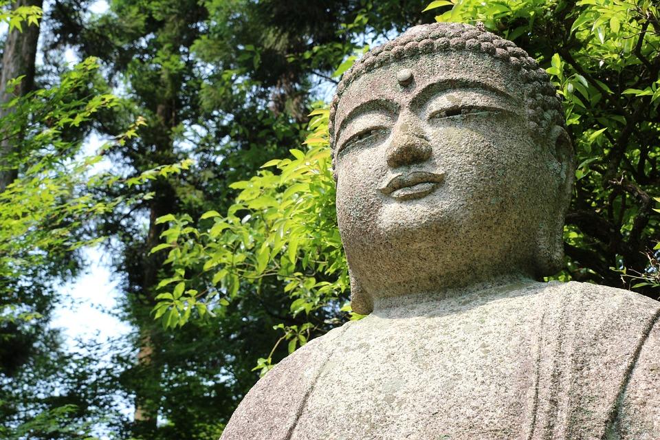 Statue, Buddha, Religion, Spirituality, Nature, Stone
