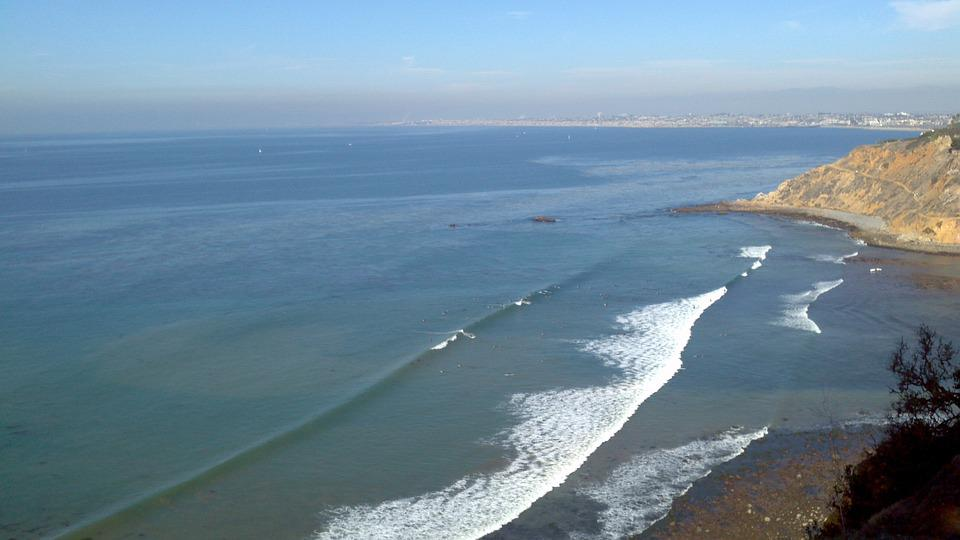Coast, Ocean, California, Water, Summer, Nature, Sky