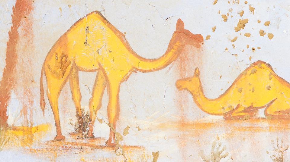 Egypt, Camel, Africa, Nature, Egyptian, Mural, Zoo
