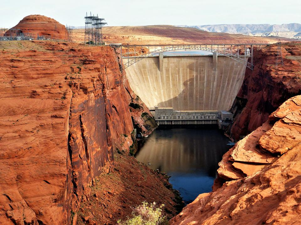 Architecture, Dam, Usa, Canyon, Sandstone, Nature