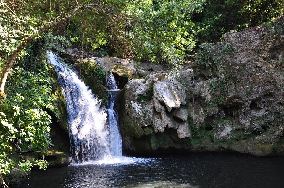 Cascade, Freshness, France, Waterfall, Green, Nature