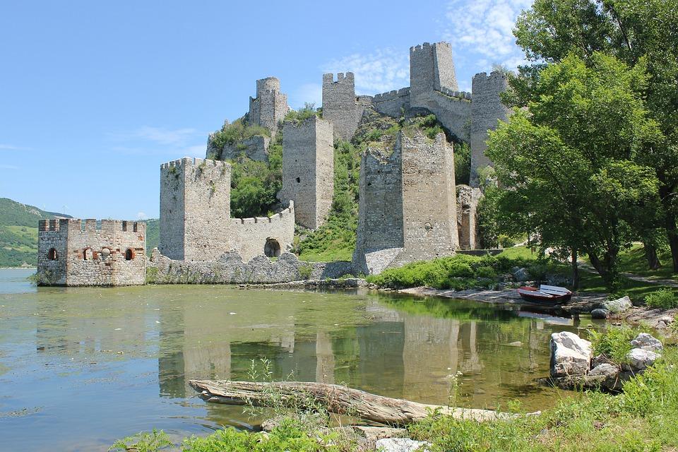 Castle, Landscape, Golubac, Nature, Serbia, đerdap