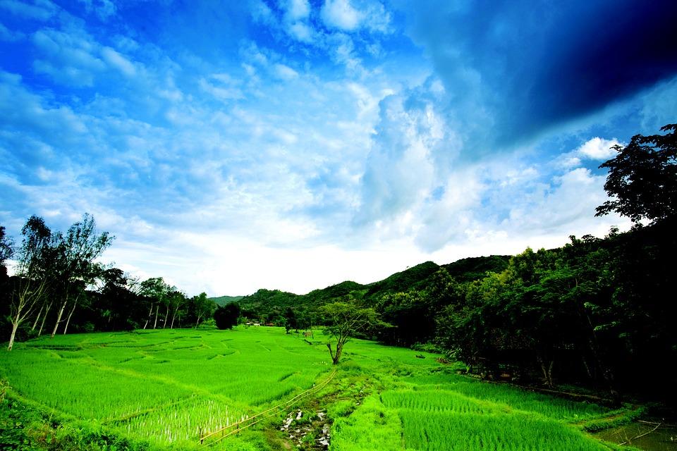 Thailand, Landscape, Sky, Cloud, Nature, Blue, Asia