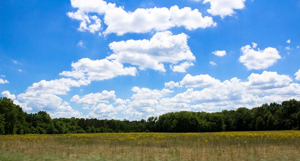 Sky, Farm, Clouds, Field, Agriculture, Rural, Nature