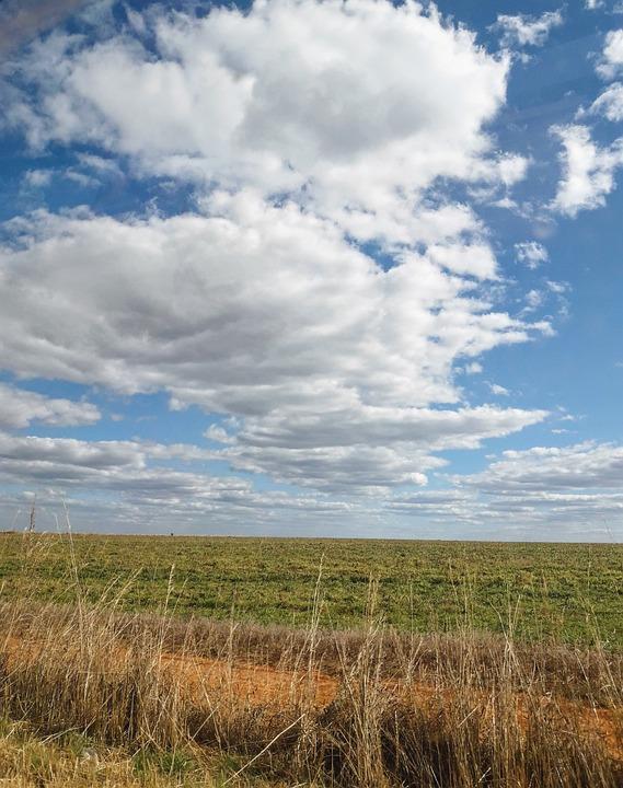Sky, Clouds, Landscape, Rural, Field, Nature