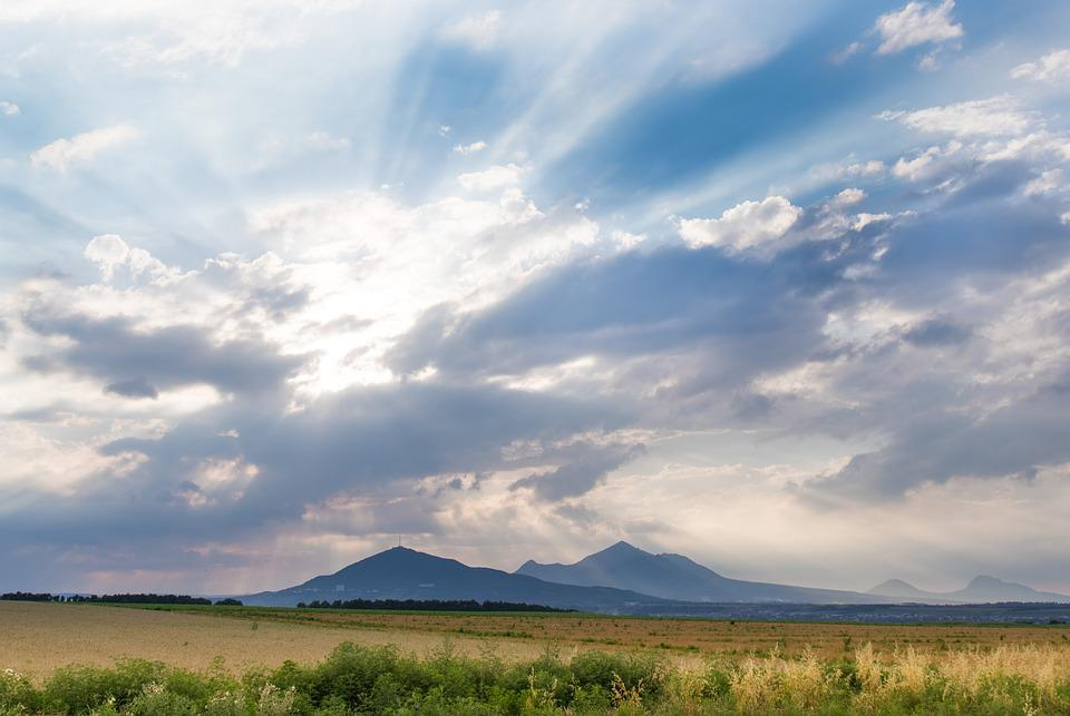 Sky, Landscape, Nature, Field, Summer, Clouds, Day