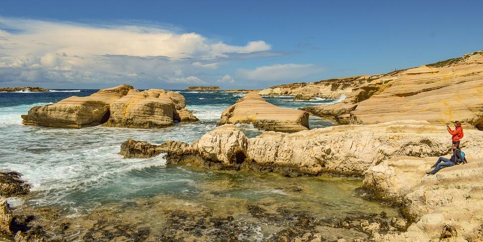 Rocks, Sea, Nature, Coast, Travel, Sky, Clouds