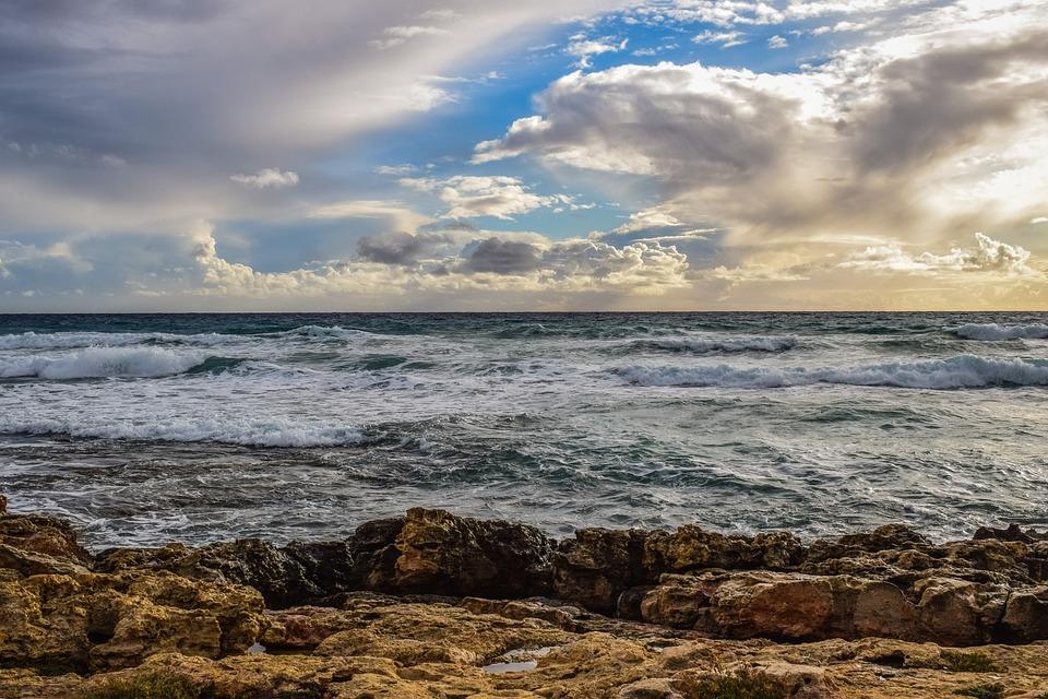 Sea, Sky, Clouds, Nature, Landscape, Seashore, Beach