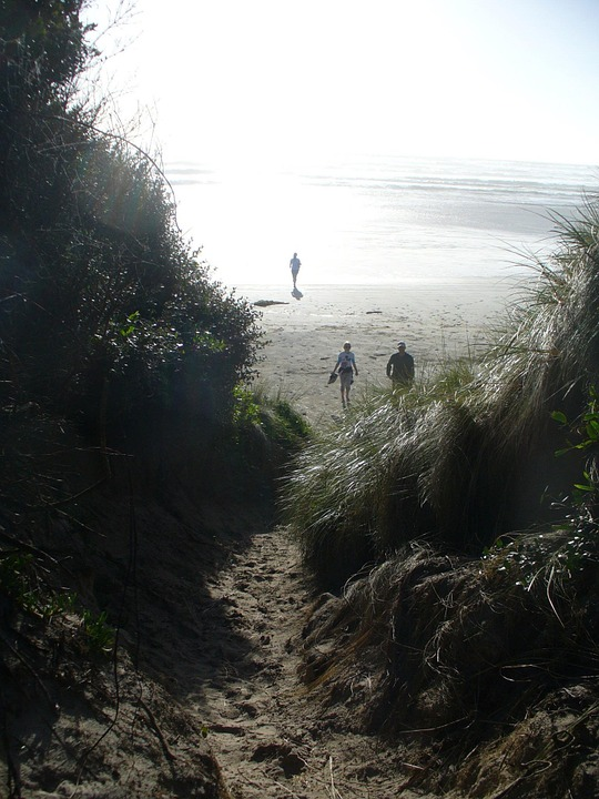 Ocean, Beach, Path, Sand, Nature, Coast, Shore
