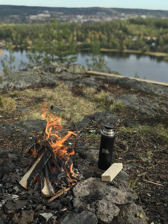 Coffee Break, Fire, Bonfire, Forest, Nature, Campfire
