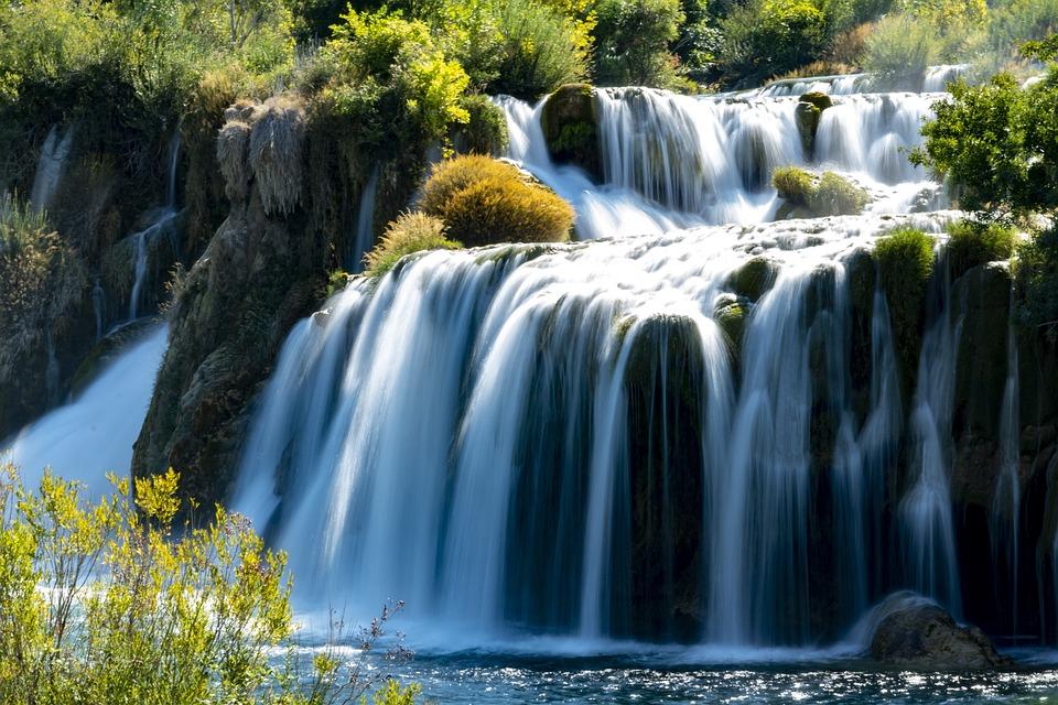Waterfall, Krka National Park, Croatia, Nature