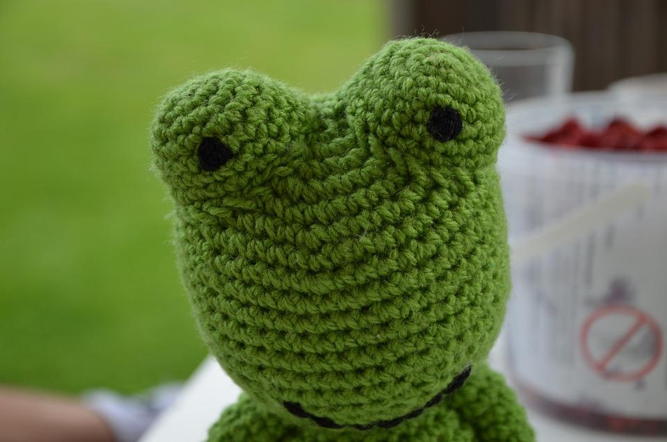 Frog, Crochet, Nature