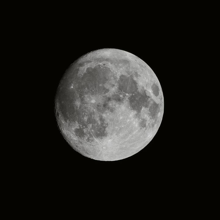 Moon, Sky, Full Moon, Night, Dark, Planet, Nature