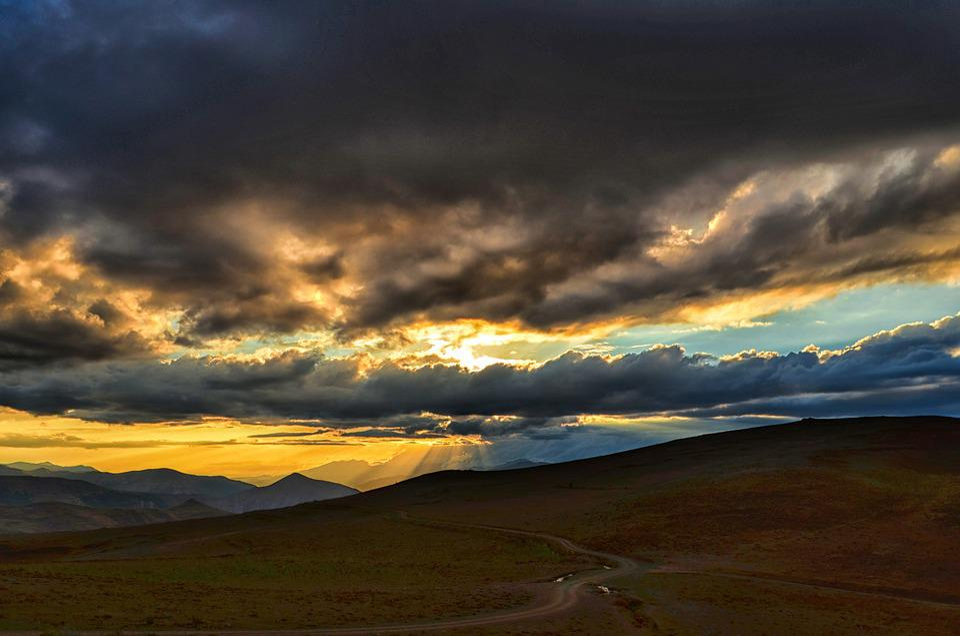 Panoramic, Sunset, Dawn, Nature, Mountain, Turkey