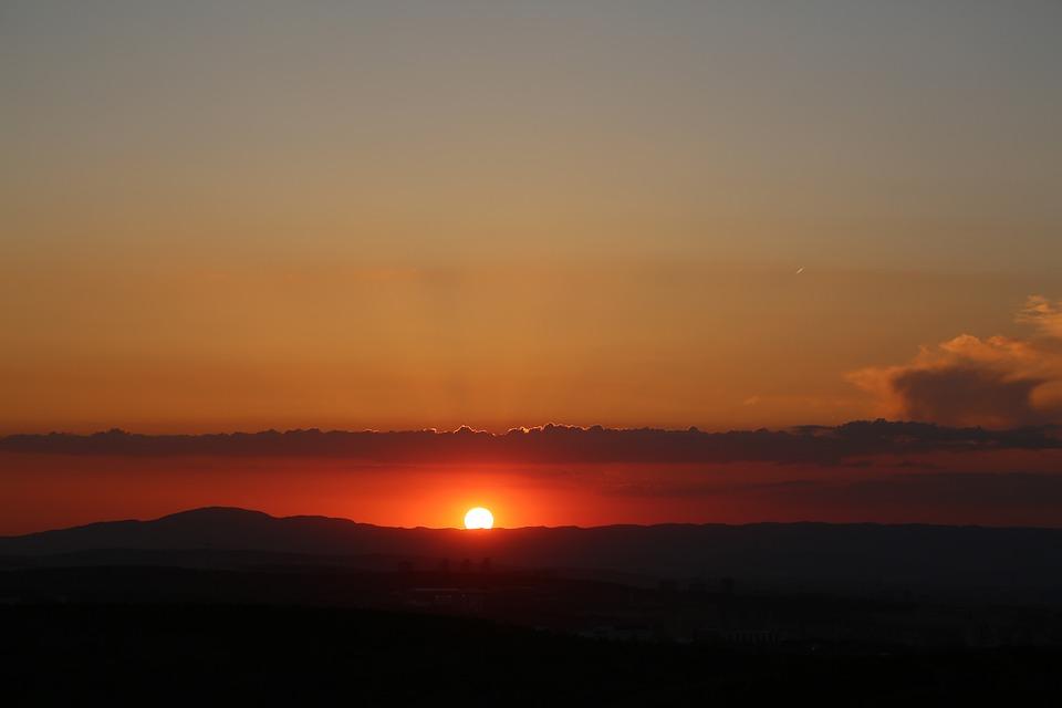 Sunset, Dawn, Solar, Nature