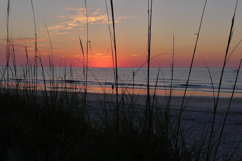 Water, Sky, Nature, Dawn, Sunrise, Beach